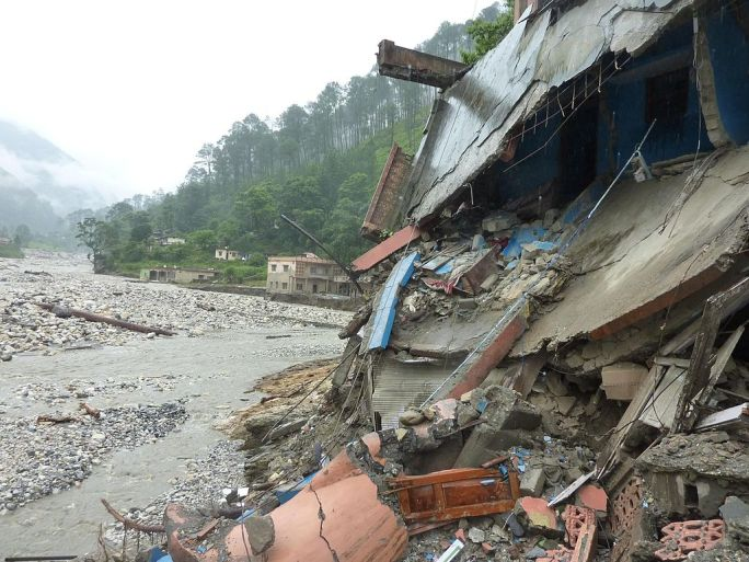 Flash floods in Uttarakhand 2012