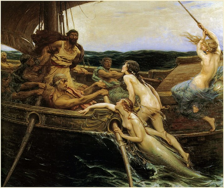 Herbert James Draper, Ulysses and the Sirens, 1909