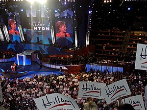 English: Hillary Rodham Clinton speaks during ...