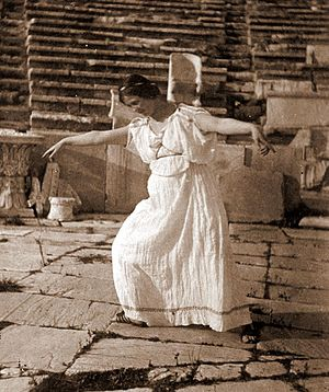 Isadora Duncan at Theatre of Dionysus, Athens