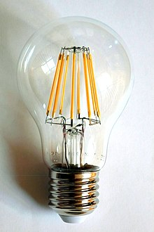 wiring diagram for wall lights 6w white light double cob led switch night hayward super ii pump motor lamp wikipedia a 230 volt filament bulb with an e27 base the filaments are visible as eight yellow vertical lines