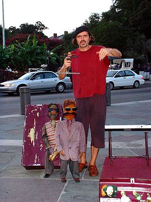 New Orleans puppet show.