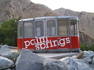 Palm Springs 1963 Tram Car as seen on May 5, 2007