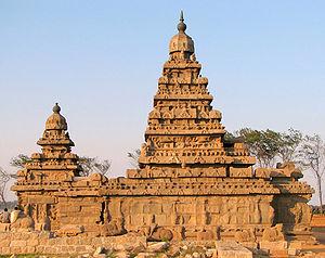 English: Shore Temple, Mahabalipuram, Tamil Na...