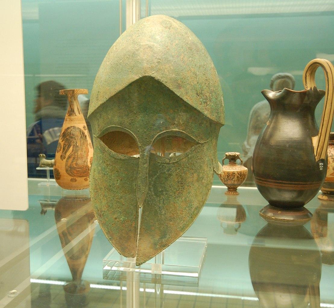 FileSpartan helmet British Museumjpg  Wikimedia Commons