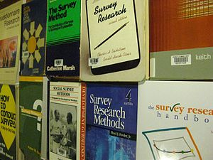 Books about survey research and survey design.