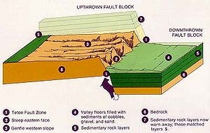 Schematic diagram of the Teton fault and the o...