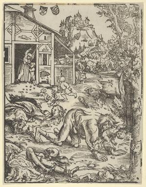 Werewolf, Wooodcut, 162 × 126 mm