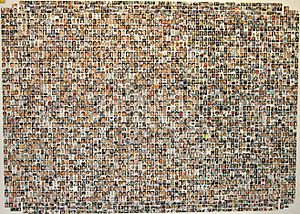 A collection of photographs of those killed (e...