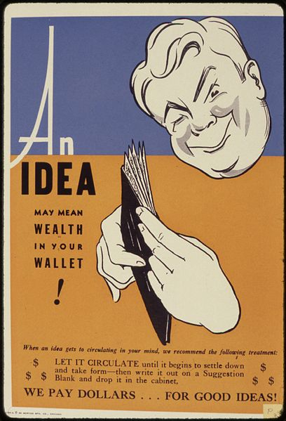 'An Idea may mean Wealth in your Wallet' poster