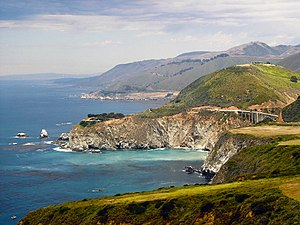 A view of the Big Sur coast including the Bixb...
