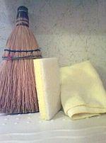 Broom sponge and dister