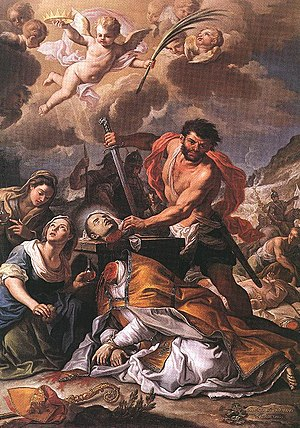 Martyrdom of Saint Januarius Oil on canvas, 26...