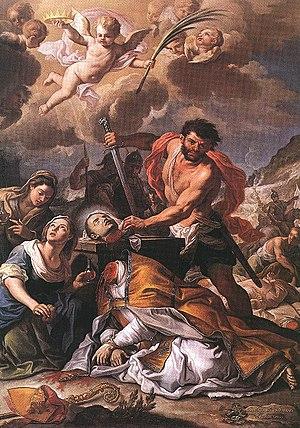 Martyrdom of Saint Januarius Oil on canvas, 26...