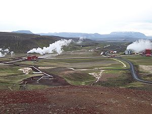 Krafla Geothermal Station.