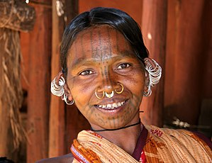 An ethnic Adivasi woman from the Kutia Kondh t...