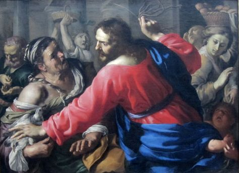File:Mei, Bernardino - Christ Cleansing the Temple - c. 1655.jpg