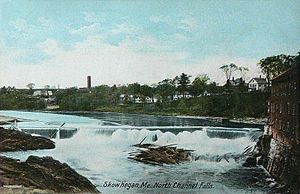 English: North Channel Falls, Skowhegan, ME; f...