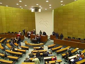 Deutsch: Plenarsaal des Niedersächsischen Land...
