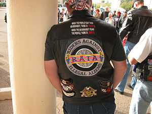 Riders Against Illegal Aliens (RAIA) at the Sa...