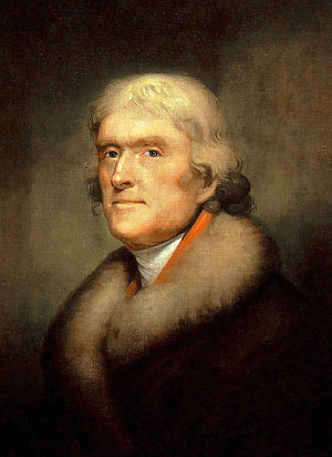 Portrait of Thomas Jefferson, founder of the U...