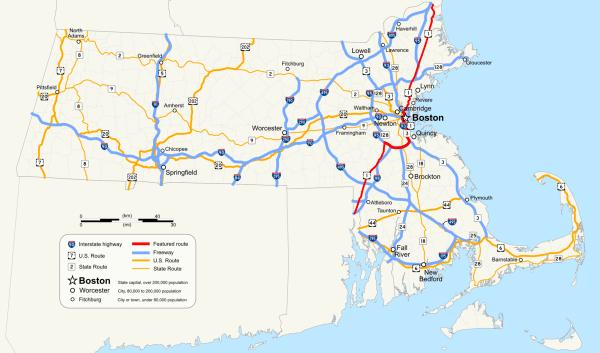 US Route 1 in Massachusetts Wikipedia