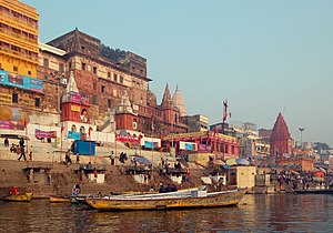 Varansi, India as seen from Ganga river.