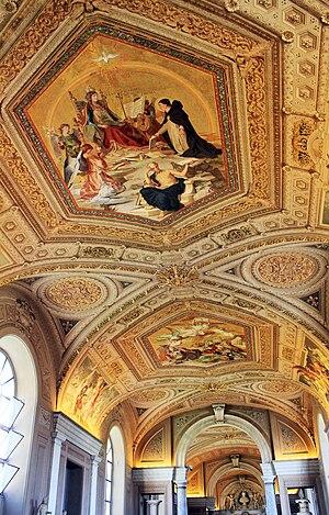 Ceiling of one corridor in Vatican Museums, Va...