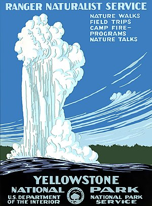 Poster for Yellowstone National Park, Wyoming/...