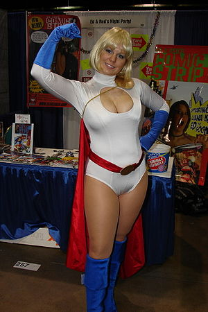 English: Power Girl (as played by Liana K.)