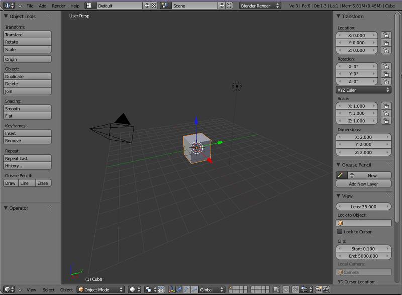 Blender 3D Noob to ProBlender 25x 3D View  Wikibooks