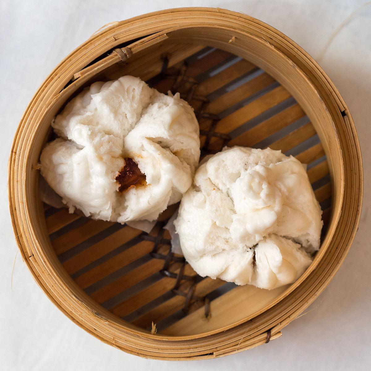 Baos Color Soft White Fluffy Delectable Char Siu Bao