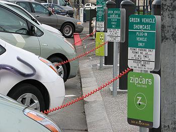 English: Three converted Prius Plug-In Hybrids...