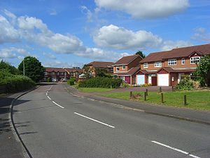 English: Chatteris Way, Lower Earley Part of t...