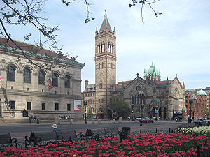 Northwest corner of Copley Square in Boston, M...