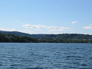 View of Clarenville, NFLD, Canada, from the sea.
