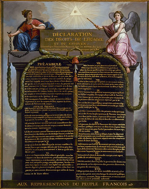 Declaration of the Rights of Man and of the Citizen in 1789