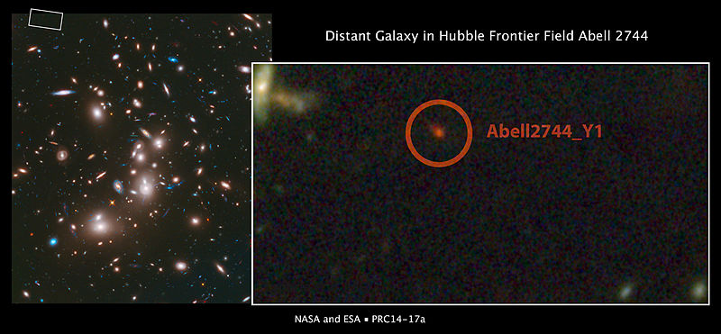 File:Distant galaxy in Hubble Frontier Field Abell 2744.jpg