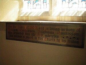 English: Memorial to William Huskisson Tilghma...