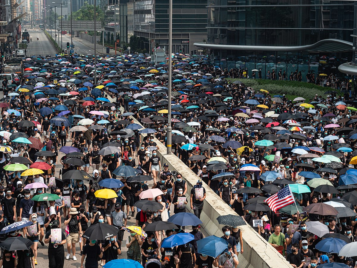 「燃點香港·全民覺醒」觀塘遊行 - 維基百科,自由的百科全書