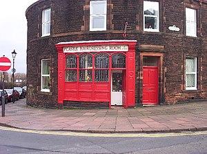 English: Old-School Barber Shop. Defiantly ana...