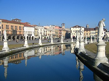 View from the canal of the Prato.
