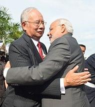 Indian Prime Minister Narendra Modi meeting Najib in Putrajaya, Malaysia on 23 November 2015