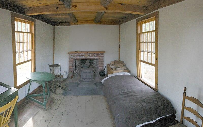 File:Thoreau's cabin inside.jpg