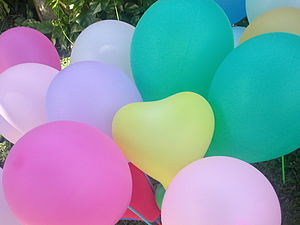 my old photo - toy balloons for happy new year...