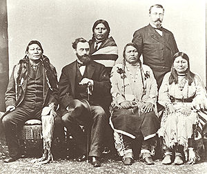 Ute delegation in Washington DC in 1880. Chipe...