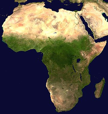 Image satellite de l'Afrique