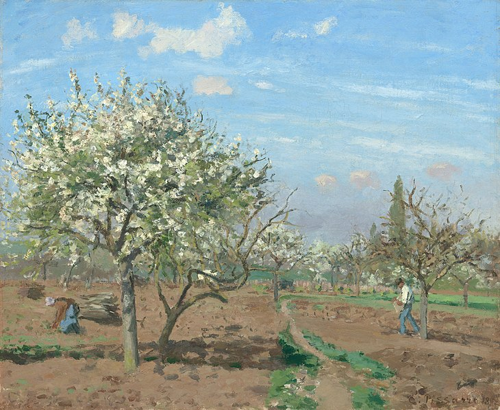 File:Camille Pissarro, Le verger (The Orchard), 1872.jpg