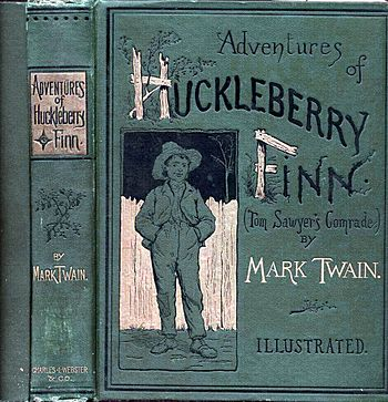English: Cover of Adventures of Huckleberry Fi...