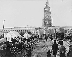 Ferry Building San Francisco after the 1906 Ea...